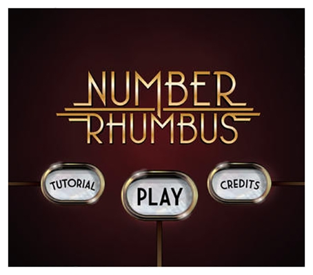 Graphic design for Number Rhumbus Game, Title Screen