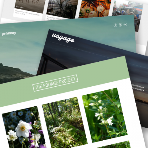 Snapshot of combined personal website projects, exploring HTML and CSS