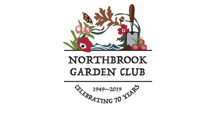Lively logo celebrates aspects of the Northbrook Garden Club