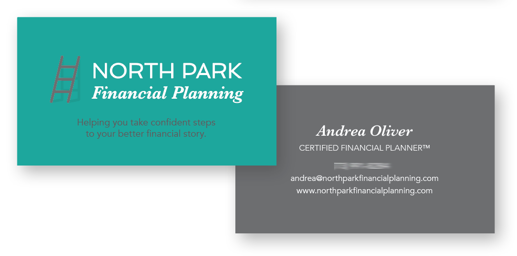 Graphic design of NPFP business card