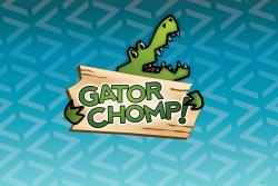 Game art for Gator Chomp, an iOS math game