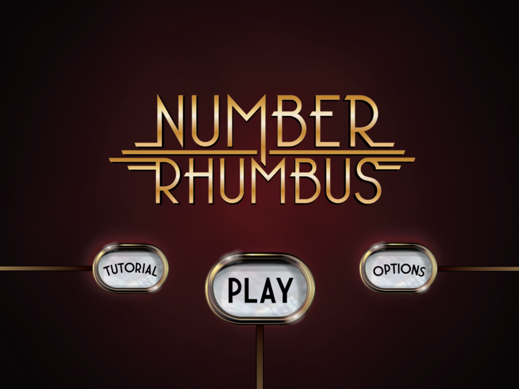 Logo design for Number Rhumbus, an iOS math game