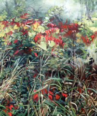 Sumac, oil painting by Deb Anderson