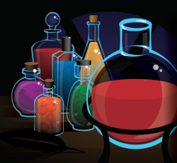 Game art for PotionMaster puzzle game